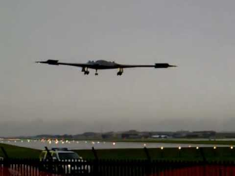 B2 Stealth Bomber arrival at RIAT 2012 for Fairford airshow display - Northrop Grumman B-2 Spirit