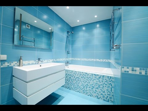 Blue Bathroom Tiles Design Ideas - YouTube