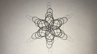 Gray Gradient 6 Pointed Star | Spirograph