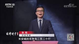 《法律讲堂(文史版)》 20200812 政治制度史话·坊市制度| CCTV社会与法