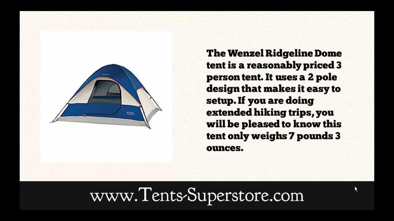Wenzel Ridgeline Dome Tent Review  sc 1 st  YouTube & Wenzel Ridgeline Dome Tent Review - YouTube