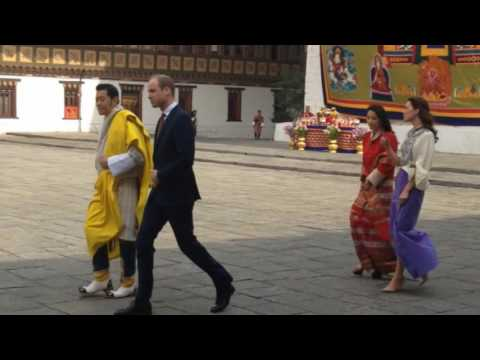 William and Kate meet the King and Queen of Bhutan in Thimpu