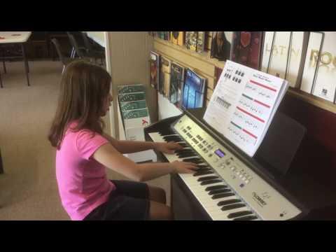 Student playing Music at Wayne's Keyboard Studio