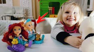 Куколка Золушка. Алина играет с принцессами дисней. Disney Princess Petite Cinderella