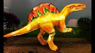 СПИНОЗАВР 3D из бумаги для детей - Оригами своими руками - Сделай Сам! Розыгрыш ИГРУШЕК!