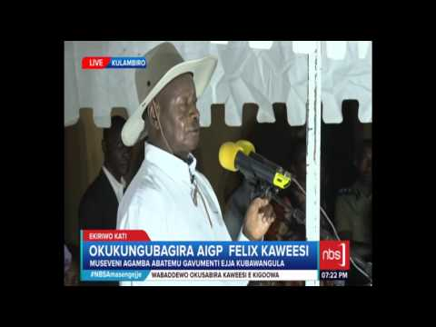 President Museveni at Kaweesi's Home: We Shall Kill These Murderers