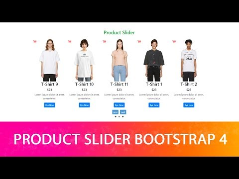 E-Commerce Product Slider Using Bootstrap 4
