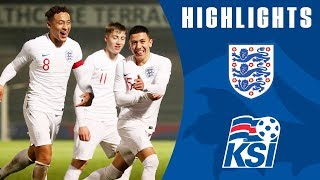 Poveda-Ocampo Scores Brace as Loader Shines! | England U20 3-0 Iceland U20 | Official Highlights