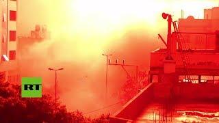 Misiles israelíes destruyen la sede de Inteligencia de Hamás