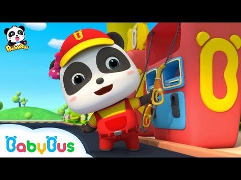 *NEW*버스 배가 꼬르~륵~|키키묘묘 꼬마주유원|직업동요|베이비버스 인기동요 모음|BabyBus