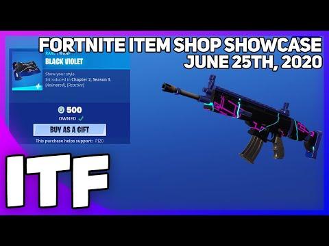 Fortnite Item Shop *NEW* BLACK VIOLET WRAP + MORE! [June 25th, 2020] (Fortnite Battle Royale)