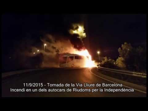 Incendi autocar de la Via Lliure de Riudoms