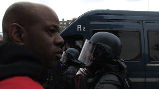 CGT et gendarmes mobiles face à face