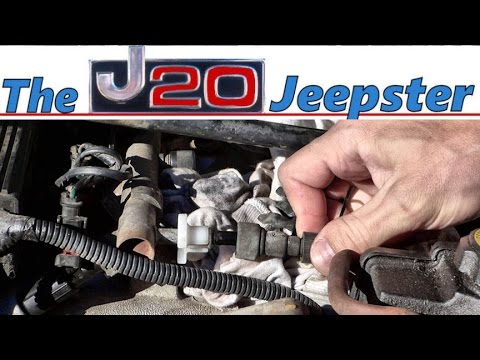 how to easily disconnect the fuel rail on a jeep cherokee 40 - youtube