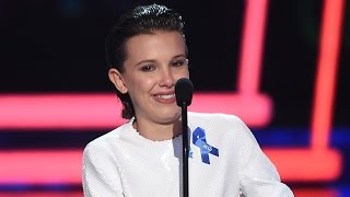 Millie Bobby Brown Cries During Best Actor in a Show Speech at 2017 MTV Movie & TV Awards