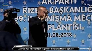 Cumhurbaşkanı ERDOĞAN AK Parti Rize İl Başkanlığı Genişletilmiş İl Danışma Meclisi Toplantısı