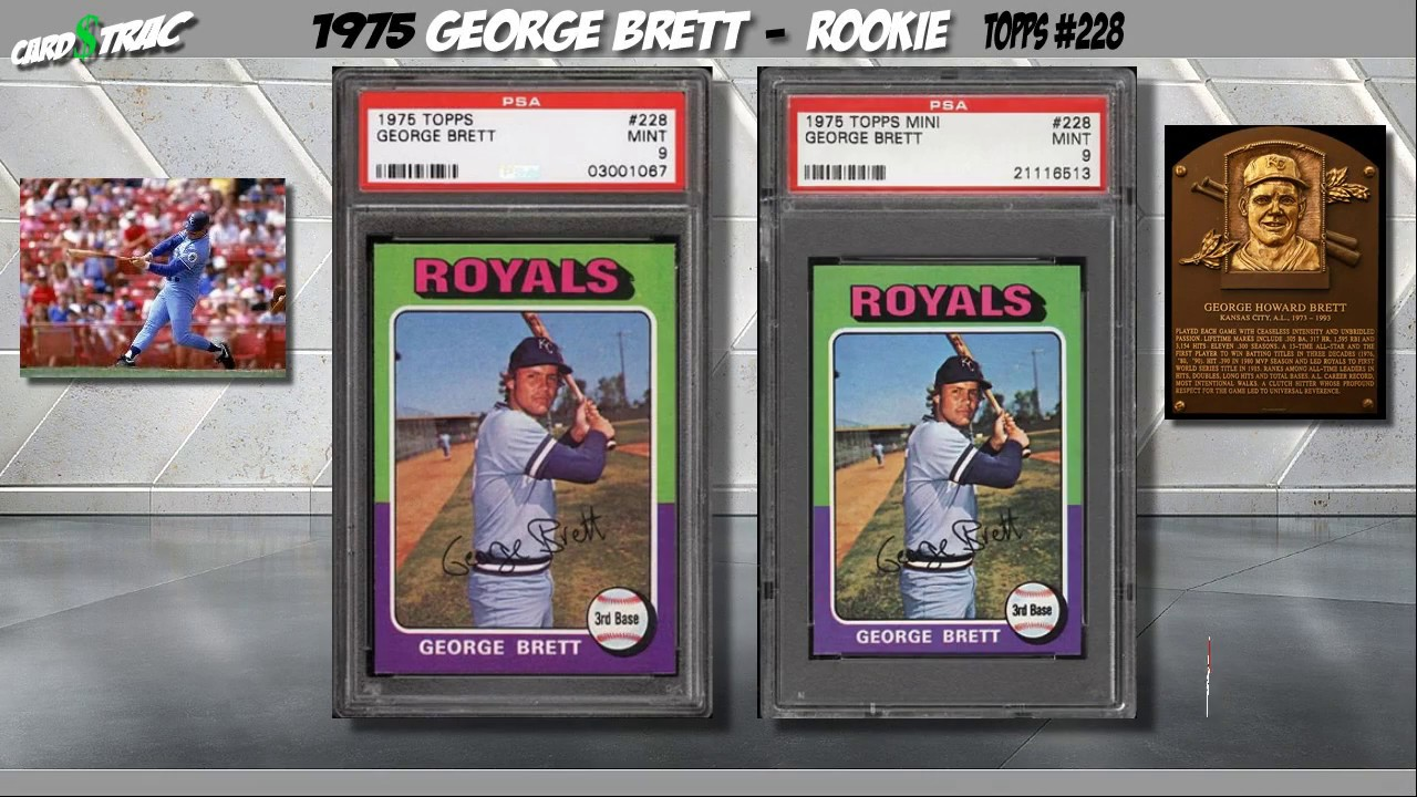 Sold Two 1975 George Brett Topps Rookie Cards 228 For Sale Graded Psa 9