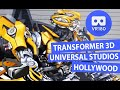 Transformers 3D - Meet Bumblebee & Megatron at Universal Studios Hollywood (VR180)