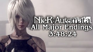 (WR) NieR: Automata - All Major Endings in 3:48:24