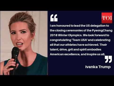 Ivanka Trump to attend the closing ceremony of Pyeongchang Olympics