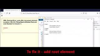 Mozilla Firefox -  Fix Error -  XML Parsing Error junk after document element with comments