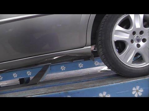 Как вытянуть порог на автомобиле