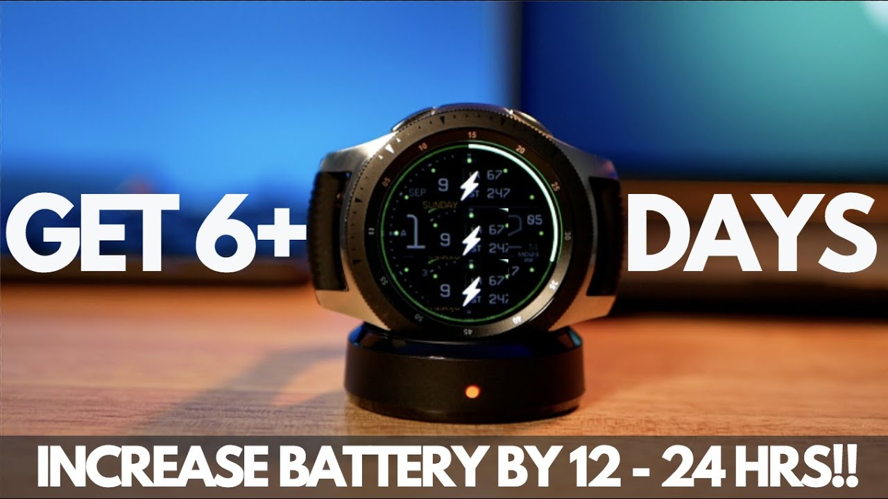 3 Ways to Increase your Galaxy Watch Battery Life by 12-24 HOURS! - YouTube