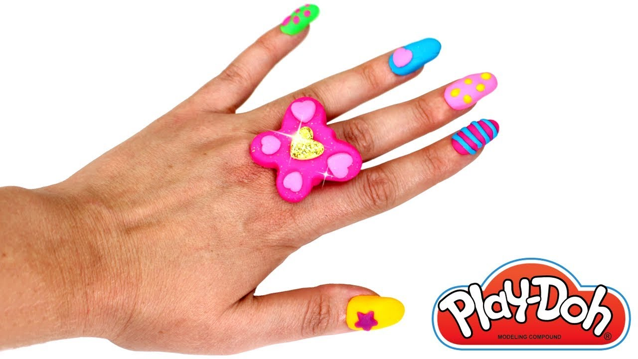 Play Doh Nails & Ring How to Make Fake Nails with Play Doh Easy ...