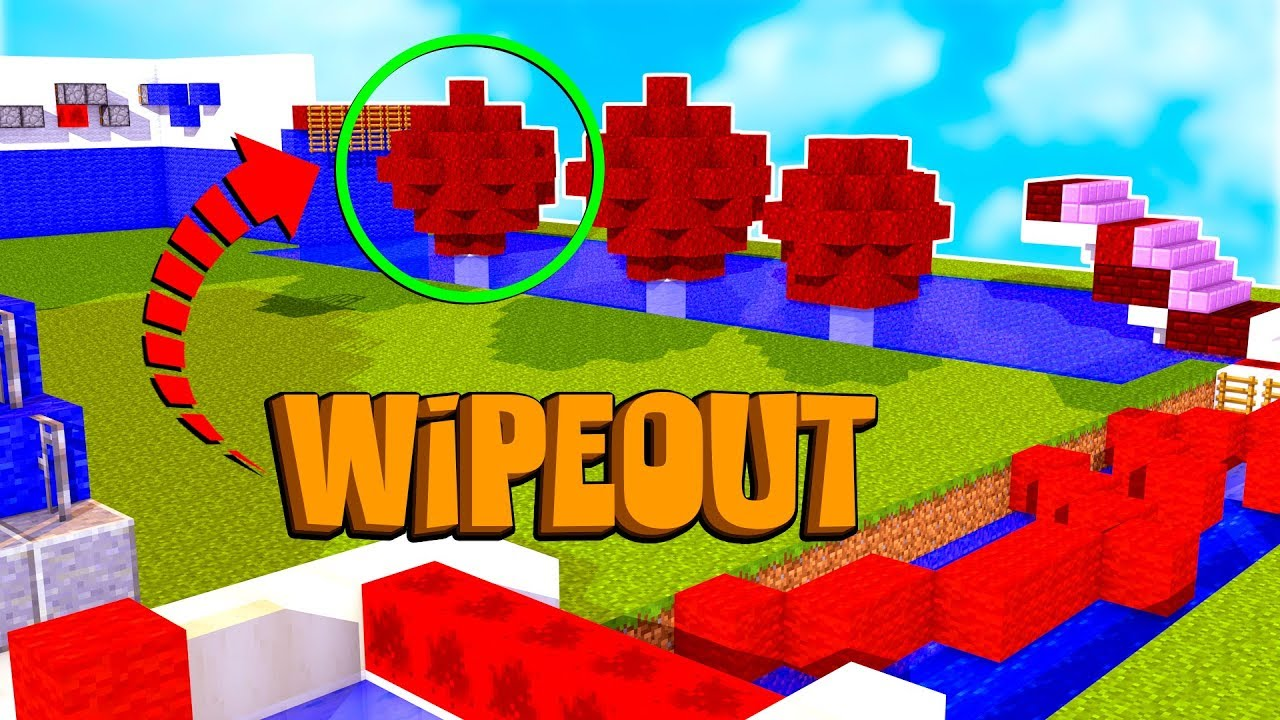Circuito Wipeout : Minecraft circuito com obstaculos impossÍveis wipeout