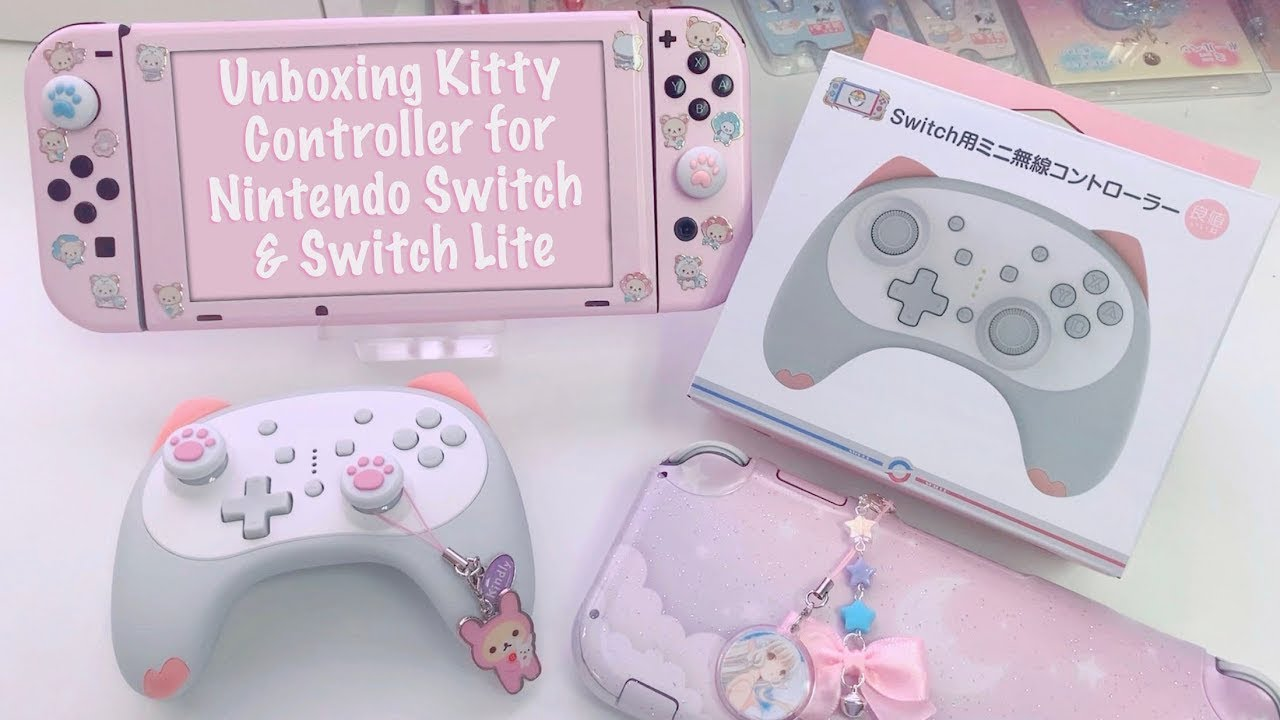 Unboxing Kawaii Kitty Controller For Nintendo Switch + Switch Lite