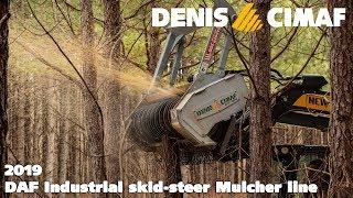Skid-steer Mulchers (2019) - DENIS CIMAF Land clearing equipment forestry - 2019 DAF line