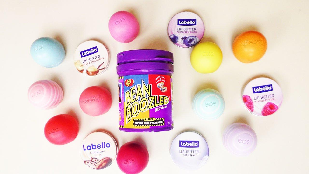 neue eos labello challenge mit jelly beans strafe wer erkennt mehr lippenpflege am geruch. Black Bedroom Furniture Sets. Home Design Ideas