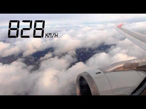 Летим! Красивый взлет из Сочи и болтанка в Домодедово / A320 Red Wings / Декабрь 2019
