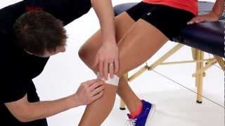 Taping and strapping the Patella Tendonitis | Crystal Palace Wrap