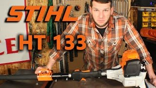 stihl ht 133 unboxing overview first cuts