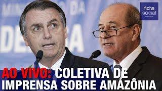 AO VIVO: MINISTROS DE BOLSONARO E GENERAIS CONCEDEM COLETIVA SOBRE A AMAZÔNIA