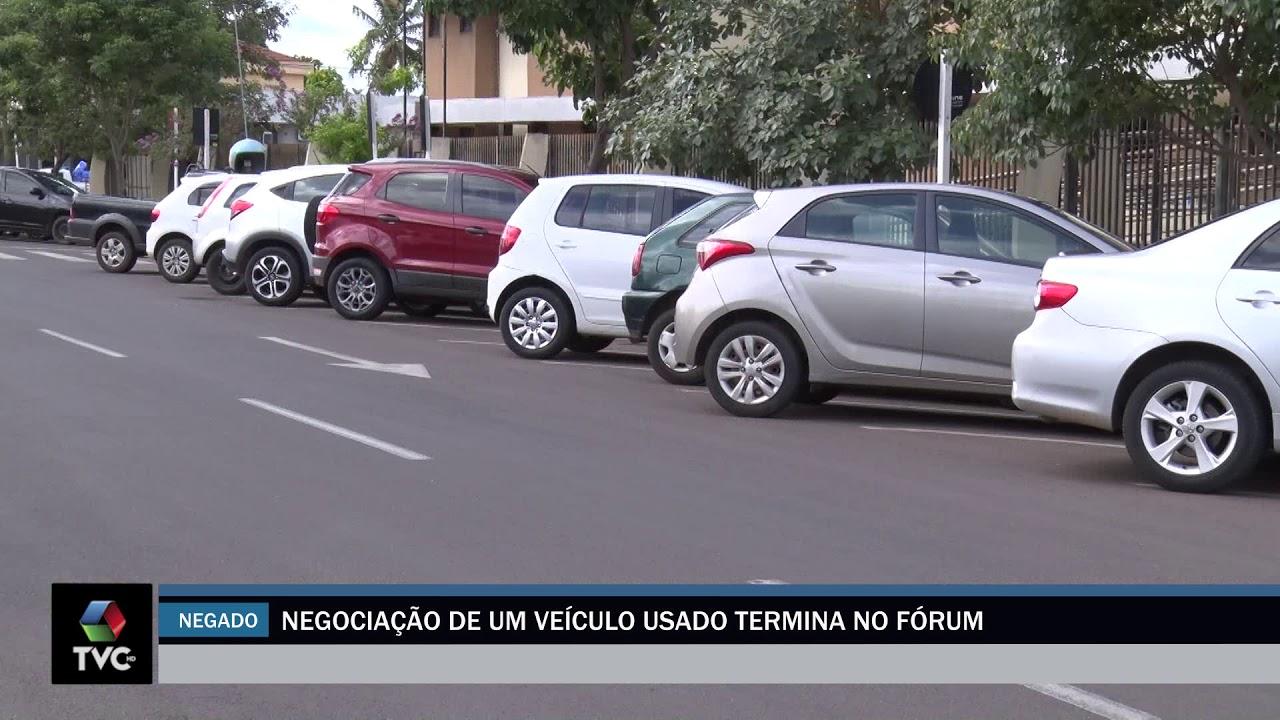 Negociação de um veículo usado termina no fórum
