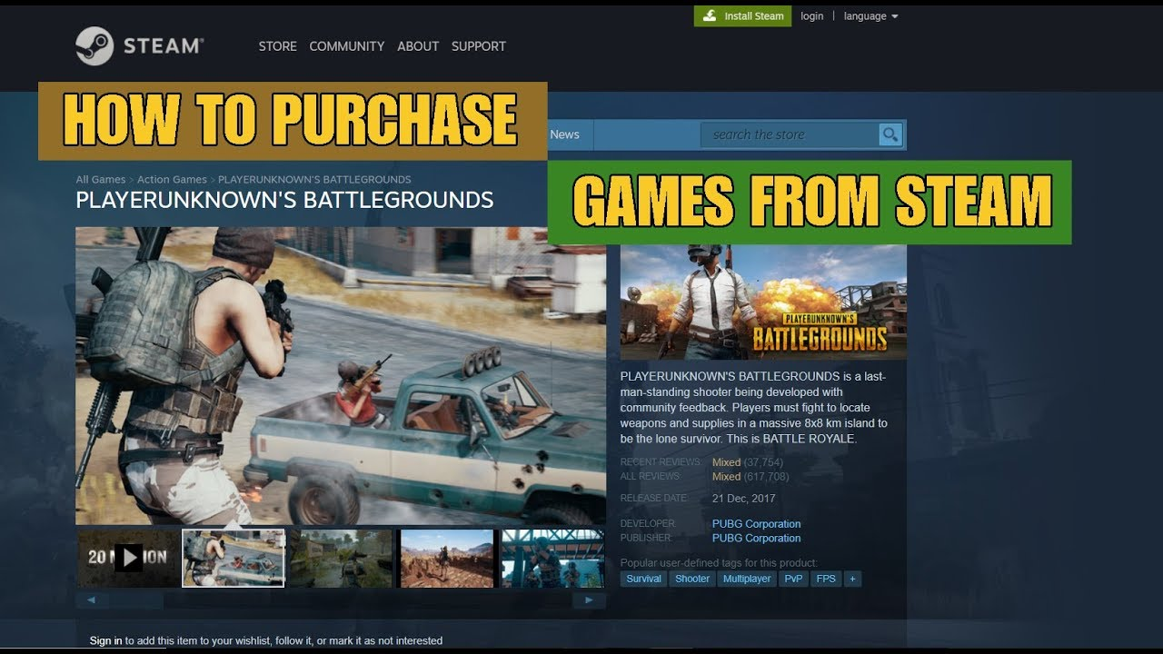 How to Purchase Any Game From Steam