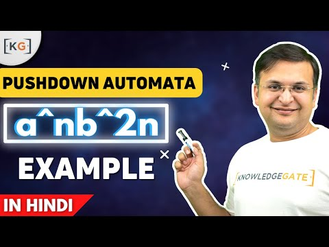 a^n b^2n example Pushdown Automata  in THEORY OF COMPUTATION in HINDI AUTOMATA part-63
