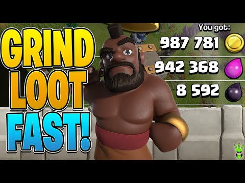 HOW TO GRIND GOLD AND ELIXIR FAST - Clash Of Clans