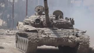 Видео маштстабного штурма армией САР позиций боевиков в районе Восточной Гуты в Ийстрине