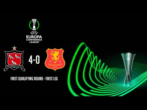 HIGHLIGHTS   Dundalk 4-0 Newtown - UEFA Europa Conference League