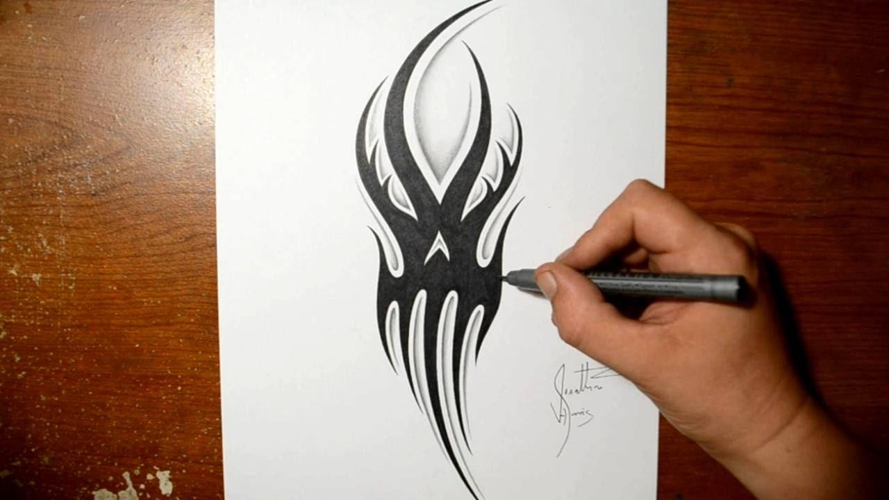 Drawing a Tribal Ghost... Cool Grim Reaper Drawings