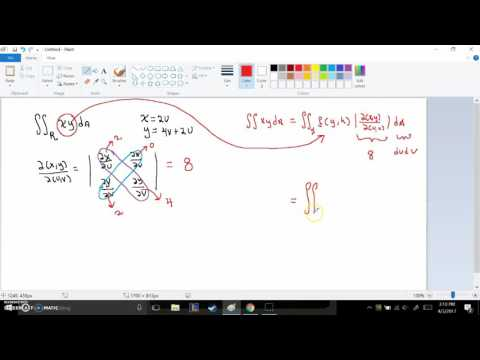Jacobian general transformation example: parallelogram to square