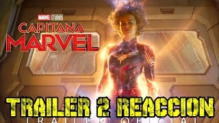 increible !! CAPITANA MARVEL Trailer 2 reaccion - alejozaaap