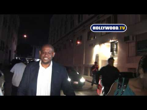 Forest Whitaker & Keisha Whitaker Take Pictures With