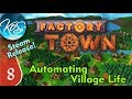 Factory Town Ep 8: BACK AND FORTH FOOD AND IRON - (Steam Early Access) Let's Play, Gameplay