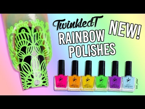 The BEST Opaque Neon Stamping Polishes? LIVE Swatch Review!