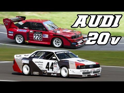 Audi 5-cylinder Quattro Turbo race & rallycars (Gr.B, Pikes Peak, Transam)