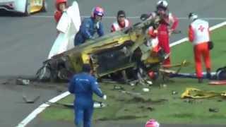 Crazy High Speed Ferrari Race Crash!